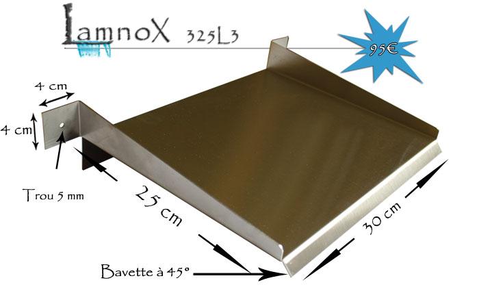 D versoir en inox de 30 cm avec 3 languettes de fixation for Recherche bache pour bassin