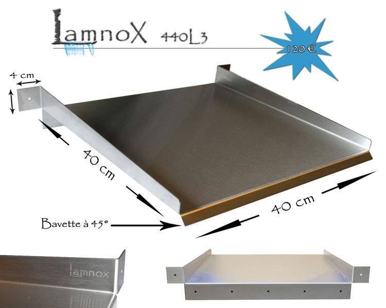 D versoir en inox de 40 cm avec 3 languettes de fixation for Recherche bache pour bassin