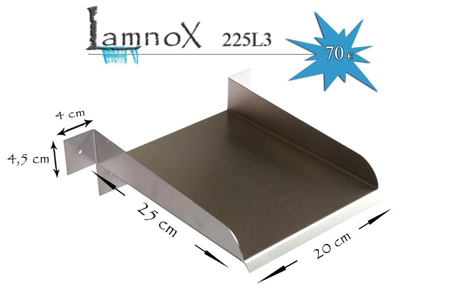 D versoir en inox de 20 cm avec 3 languettes de fixation - Comment fabriquer une lame d eau pour bassin ...